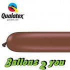 Qualatex 260Q Chocolate Brown Modellierballons