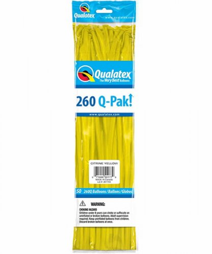 Qualatex 260Q Citrin Yellow Modellierballons