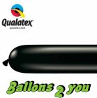 Qualatex 260Q Onyx Black Modellierballons