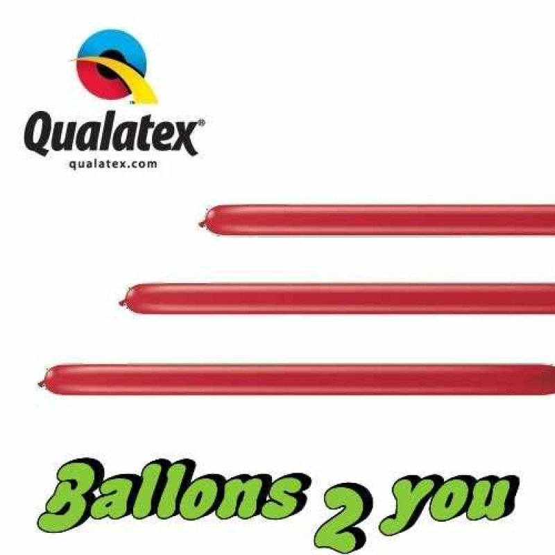 Qualatex 160Q Ruby Red Modellierballons