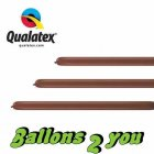 Qualatex 160Q Chocolate Brown Modellierballons