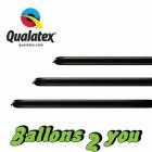 Qualatex 160Q Onyx Black Modellierballons