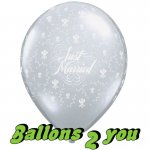 Just Married Heart Luftballons - 30cm