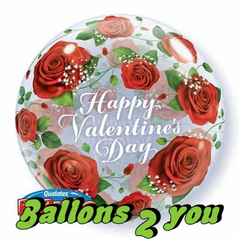 Qualatex Happy Valentins Day Bubble - 56cm