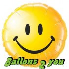 Smiley face gelb Folienballon - 45cm