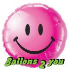 Smiley face wild berry Folienballon - 45cm