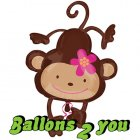 Monkey Love - Affe Folienballon - 102cm