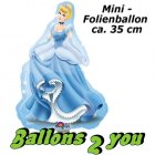 Cinderella Mini Folienballon - 35cm