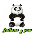 Panda Mini Folienballon - 35cm