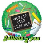 Best Teacher Folienballon - 45cm