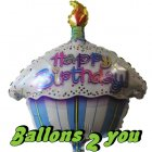 Happy Birthday Muffin Folienballon - 45cm