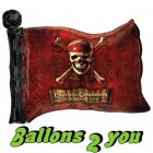 Piraten Flagge Folienballon - 76cm