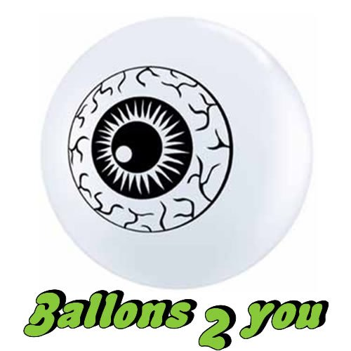 50 Qualatex Eye Ball Luftballons - 12cm