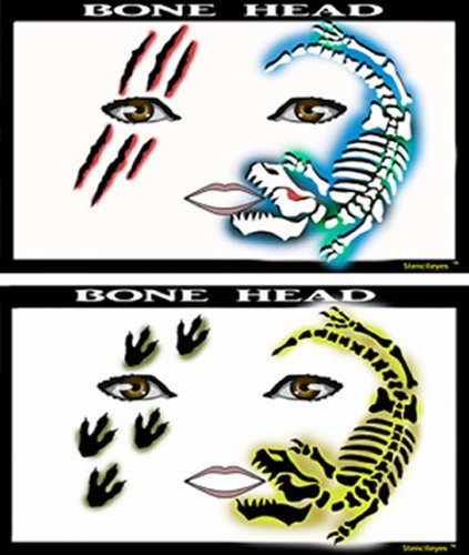 Bone Heads - Airbrush Schablone