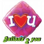 Tatty Teddy I Love You Folienballon - 45cm