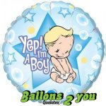 Yep! I'm A Boy Folienballon - 45cm