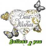Best Wishes Herz Cluster Folienballon - 76cm