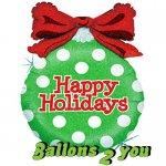 Happy Holiday / Polka Dots Folienballon - 83cm