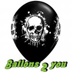 Happy Halloween Luftballons (VE 6) - 30cm