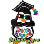 2 Cool 4 School Pinguin Folienballon - 91cm