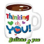 Tasse Thinking of You Folienballon - 59cm