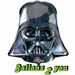 Darth Vader Helm Star War Folienballon - 93cm