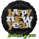 Happy New Year Folienballon - 45cm