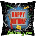 Happy Birthday Werkzeug Folienballon - 45cm
