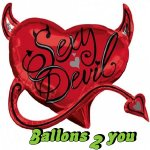 Dirty Devil Folienballon - 63cm