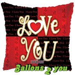 Love you Folienballon - 45cm