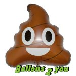 Poop Emotion Folienballon - 45cm