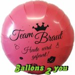 Team Braut Folienballon - 45cm
