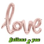 Love Script Folienballon - 100cm