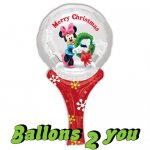 Minni Maus Christmas Folienballon - 15x30cm