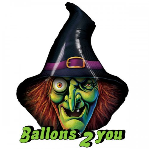 Hexe - Wicked Witch Folienballon - 86cm