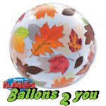 Qualatex  Fall Leaves Bubble - 56cm