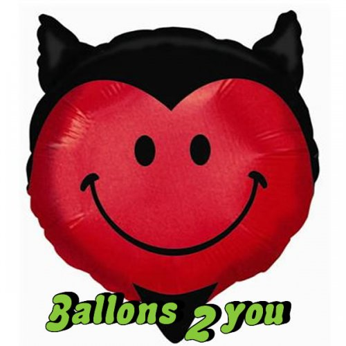 Teufel Smiley Folienballon - 96cm