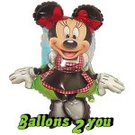 Minnie Dirndl Folienballon - 89cm