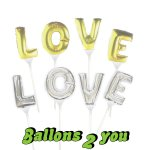 "LOVE Mini Folienballons 7""  - 17cm"