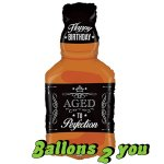 Whiskey Flasche Folienballon - 86cm