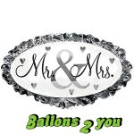 Mr & Mrs oval Folienballon - 81cm
