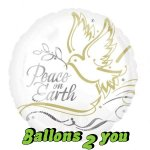 Peace on Earth Taube Folienballon - 45cm