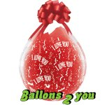 I love you Qualatex Verpackungsballon - 45cm