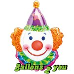 Clown Folienballon - 86cm