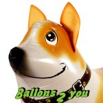 Welsh Corgi Airwalker Folienballon - 55cm