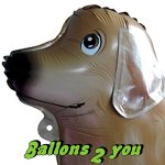 Golden Retriever Airwalker Folienballon - 72cm