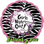 Girls Night out Folienballon - 45cm