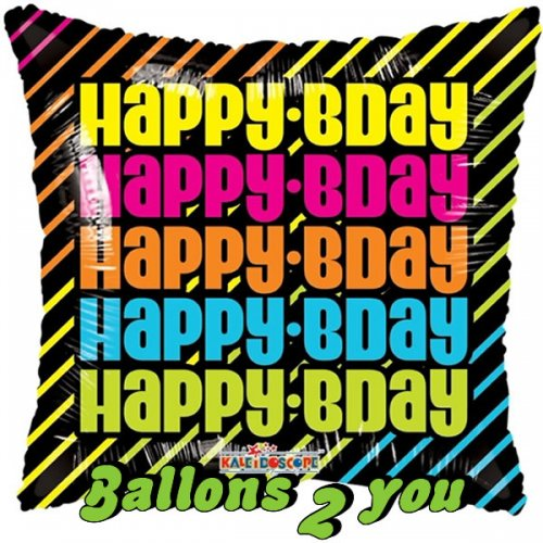 Happy Bday Folienballon - 45cm