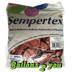 Fashion Rosewood Luftballons (VE 25) - 30cm  - 30cm