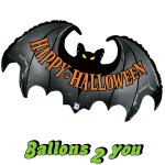 Fledermaus Happy Halloween Folienballon -106cm